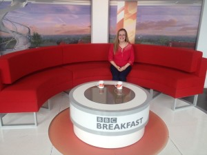 Sarah Oliver at the BBC
